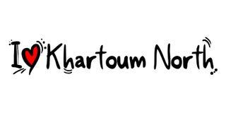 Khartoum norr stad av det Sudan förälskelsemeddelandet stock illustrationer
