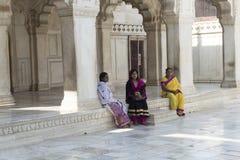 Khas Mahal dentro la fortificazione di Agra L'India Fotografie Stock Libere da Diritti