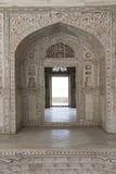 Khas Mahal inom det Agra fortet india Arkivfoto