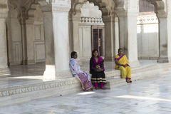 Khas Mahal inom det Agra fortet india Royaltyfria Foton