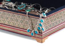 Khatam. Die große Schatulle mit bijouterie. Lizenzfreie Stockbilder