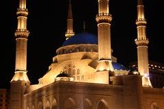 Khatem-Al-Anbiyaa-Moschee em Beirute Fotografia de Stock