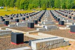 Khatyn, Belarus - 20 août 2015 : Khatyn complexe commémoratif Images stock