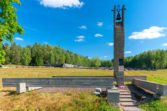 Khatyn, Belarus - 20 août 2015 : Khatyn complexe commémoratif Image libre de droits