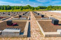 Khatyn, Belarus - 20 août 2015 : Khatyn complexe commémoratif, cimetière Image stock