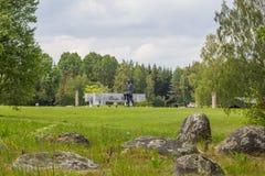 KHATYN, complejo conmemorativo de BIELORRUSIA Imagenes de archivo