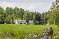 KHATYN, complejo conmemorativo de BIELORRUSIA Foto de archivo