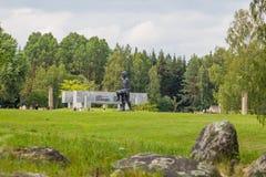 KHATYN, complesso commemorativo della BIELORUSSIA Fotografia Stock