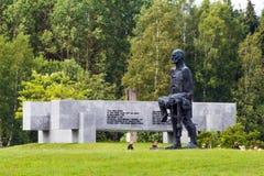 KHATYN, complesso commemorativo della BIELORUSSIA Immagini Stock Libere da Diritti