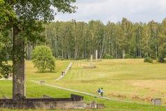 KHATYN, complexe commémoratif du BELARUS Image libre de droits