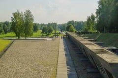 Khatyn herdenkings complex in de Republiek Wit-Rusland Royalty-vrije Stock Foto