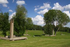 Khatyn memorial complex in Belarus Royalty Free Stock Photos