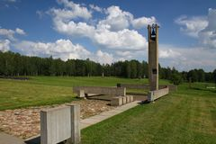 Khatyn memorial complex in Belarus Stock Photo