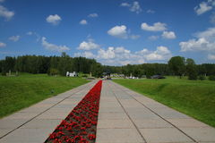 Khatyn memorial complex in Belarus Stock Images