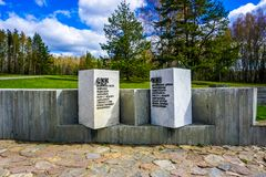 Khatyn Memorial Complex Inscription stock image