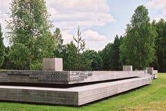 Khatyn Vitryssland, Juli 21, 2008: Minnes- komplex i Khatyn Arkivbilder
