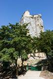 Khatzski column. Historic chapel on top of the column Stock Photo