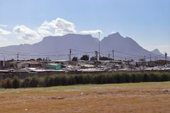 Khayelitsha Township in Cape Town. Khayelitsha was founded in 1985 as one of many townships in South Africa as part of the establishment of the apartheid system royalty free stock photos