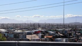 Khayelitsha Township in Cape Town. Khayelitsha was founded in 1985 as one of many townships in South Africa as part of the establishment of the apartheid system royalty free stock photo