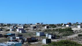 Khayelitsha Township in Cape Town. Khayelitsha was founded in 1985 as one of many townships in South Africa as part of the establishment of the apartheid system stock image