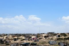 Khayelitsha Township in Cape Town. Khayelitsha was founded in 1985 as one of many townships in South Africa as part of the establishment of the apartheid system stock photo