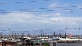 Khayelitsha Township in Cape Town. Khayelitsha was founded in 1985 as one of many townships in South Africa as part of the establishment of the apartheid system royalty free stock image