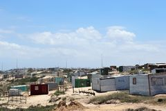 Khayelitsha Township in Cape Town. Khayelitsha was founded in 1985 as one of many townships in South Africa as part of the establishment of the apartheid system royalty free stock photography