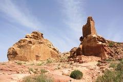 khazneh Иордана империи столицы al выкапывая высокое сделало утесами места petra периода nabataeans римскую поддачу Стоковая Фотография RF