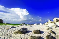 Khe Ga海滩石头。 免版税库存图片