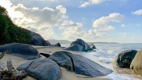 KheaKhea Wyrzucać na brzeg, Pattani prowincja morze w Tajlandia jest w ten sposób piękny obrazy royalty free