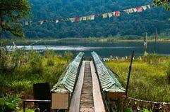 Khecheopalri lake Royalty Free Stock Photo