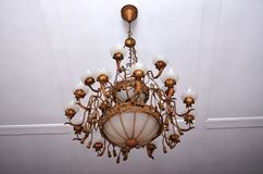 Ottoman Khedive pavilion, 2 centuries-old chandeliers Stock Photos