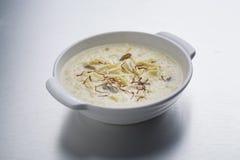 Kheer oder Reispudding oder -nachtisch Lizenzfreie Stockbilder
