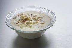 Kheer ou riz ou dessert au lait Images stock