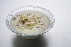 Kheer ou riz ou dessert au lait Photo stock