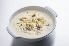 Kheer ou riz ou dessert au lait Image stock