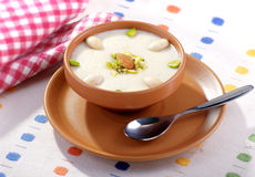 Kheer in Sand Pot. Delicious, fresh and unique sweet food, most famous in Pakistani and Indian peoples Stock Photography
