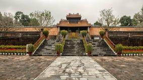 Kheim Cung Gate, adornado maravillosamente para Tet 2019, Tu Duc Royal Tomb, tonalidad, Vietnam imagen de archivo libre de regalías