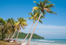 Khem strand - en lös strand i den Phu Quoc ön Vietnam royaltyfri bild