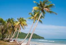 Khemstrand - een wild strand in het eiland Vietnam van Phu Quoc royalty-vrije stock afbeelding