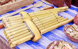 Khene, strumenti musicali tailandesi Fotografie Stock
