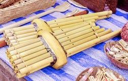 Khene, thailändische Musikinstrumente Stockfotos