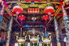 Kheng Hock Keong Temple in Yangon in Myanmar Stock Image