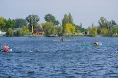 Kherson, de Oekraïne, 30,2014 September de concurrentie van het roeien sporten Royalty-vrije Stock Afbeeldingen
