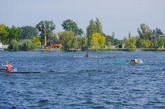 Kherson, Ukraine, Wettbewerb Septembers 30,2014 des Rudersports sport Lizenzfreie Stockbilder