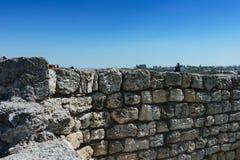 Khersones- Nationaal archeologisch park royalty-vrije stock afbeeldingen