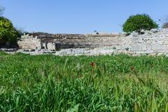 Khersones- Nationaal archeologisch park stock foto