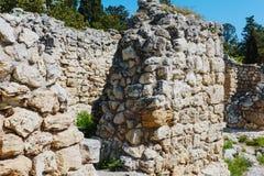 Khersones- parkerar nationellt arkeologiskt royaltyfri bild