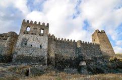 Khertvisi fästning Arkivbild