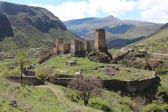 Khertvisi forteca, Gruzja Obrazy Royalty Free
